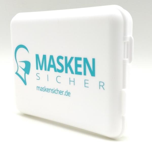 Aufbewahrungsbox Maskensicher mit doppeltem Verschluss