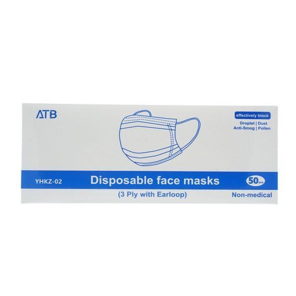 Hochwertige Einwegmasken 3-lagig 50er Pack