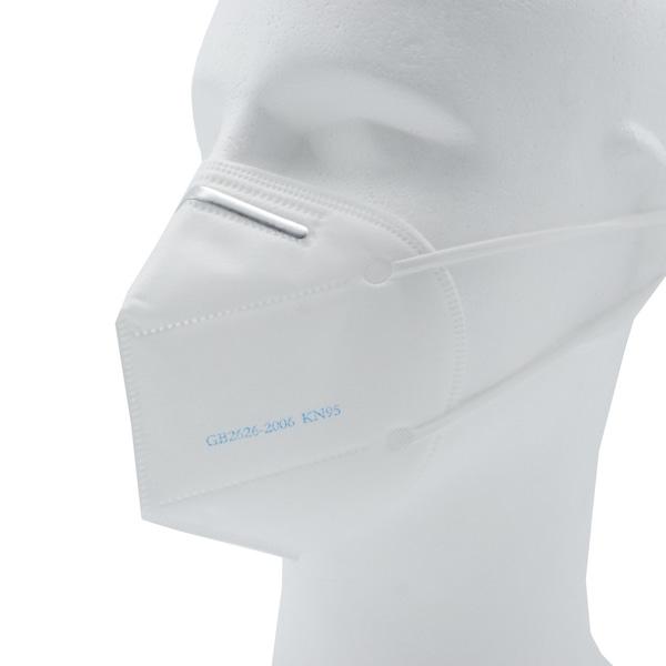 KN95 Atemschutzmaske FFP2 Äquivalent angezogen