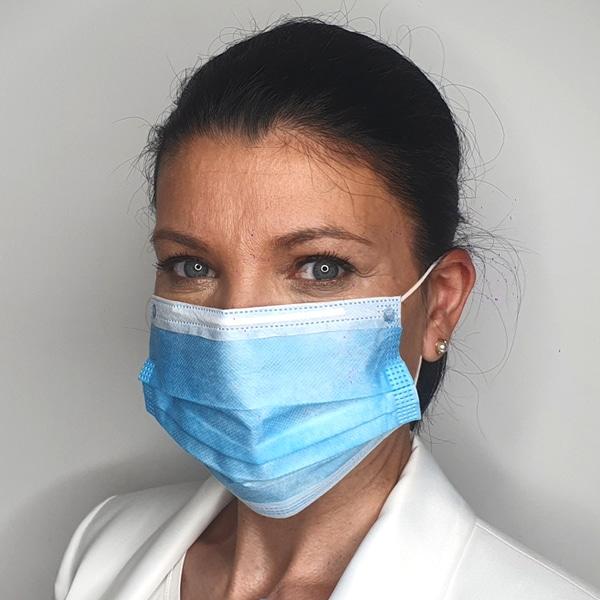 hochwertige Einwegmasken 50 Stück 3-lagig Tragekomfort