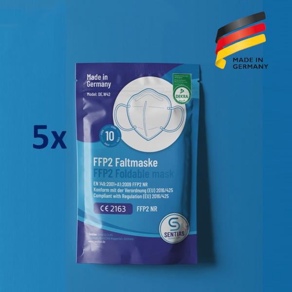 Sentias FFP2 Maske 50er Pack Aktion Made in Germany