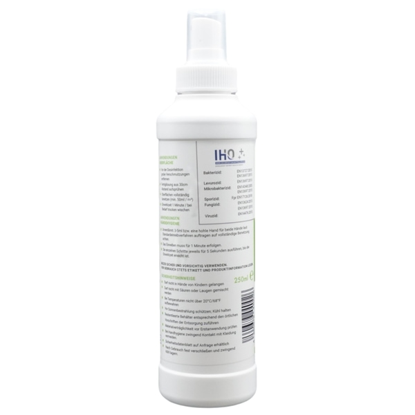 Viruzides Desinfektionsmittel Neutrosan 250ml Sprühflasche Rückseite
