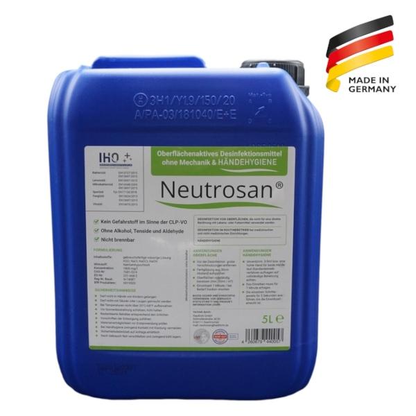 Viruzides Desinfektionsmittel Neutrosan 5L Kanister Vorderseite